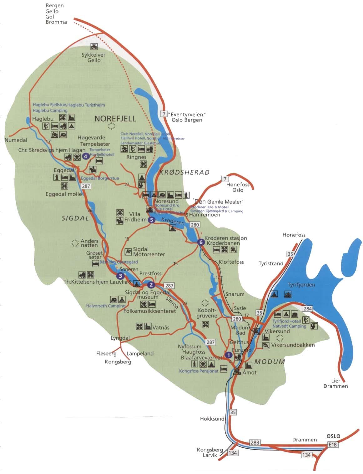 NM Jr. Sigdal - kart